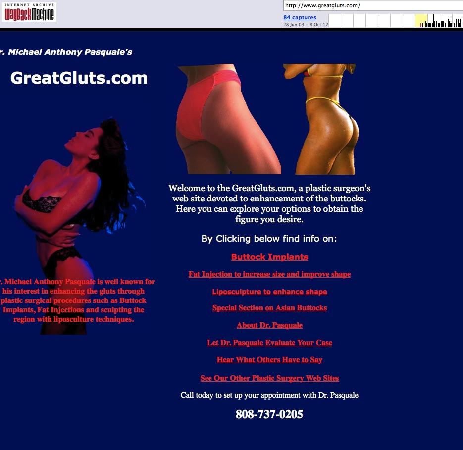 Buttock Web site 1999